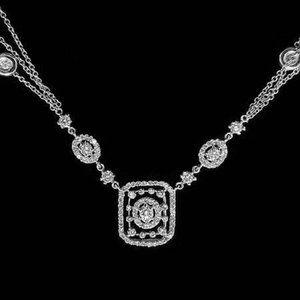 Jewelry - White gold 14k brilliant cut 3.50 ct diamonds lady
